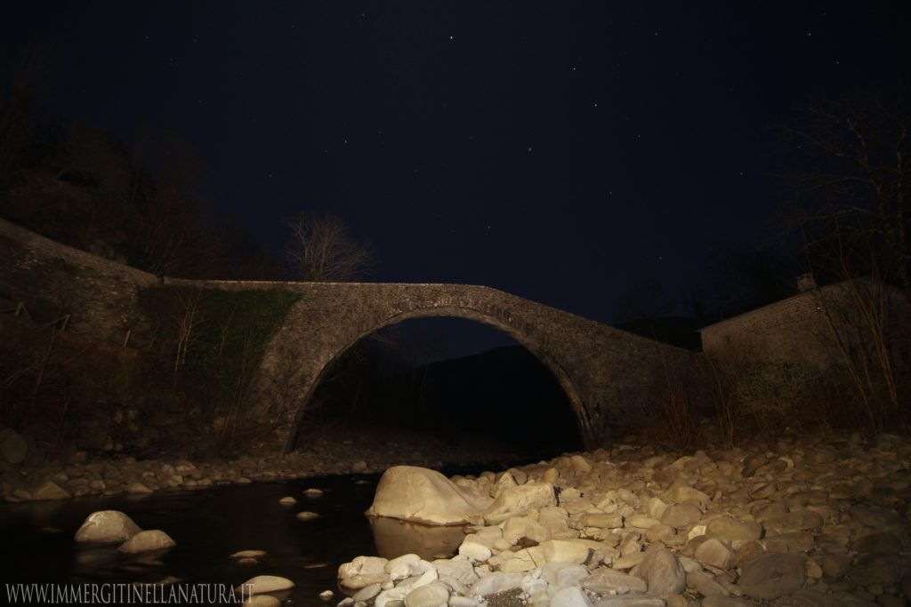 ponte di Castruccio by night